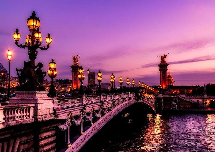 Immagine di Parigi e del ponte Alexandre III sulla Senna