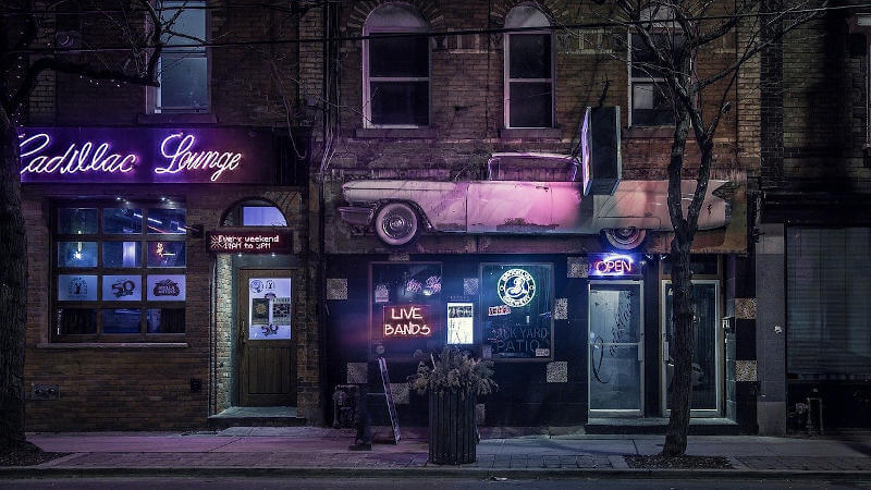Cadillac Lounge american bar stile anni '50