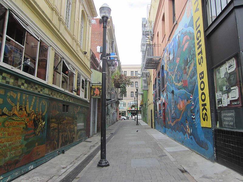 Jack Kerouac Alley verso Grant Avenue a San Francisco