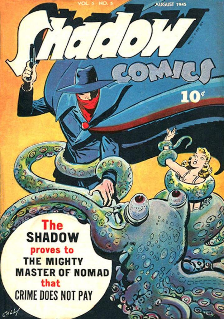 Copertina comics The Shadows di Agosto 1945