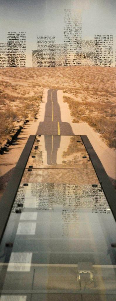Immagine dell'esposizione originale del manoscritto On The Road