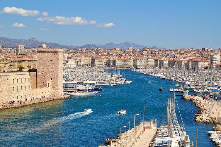 Immagine del porto di Marsiglia