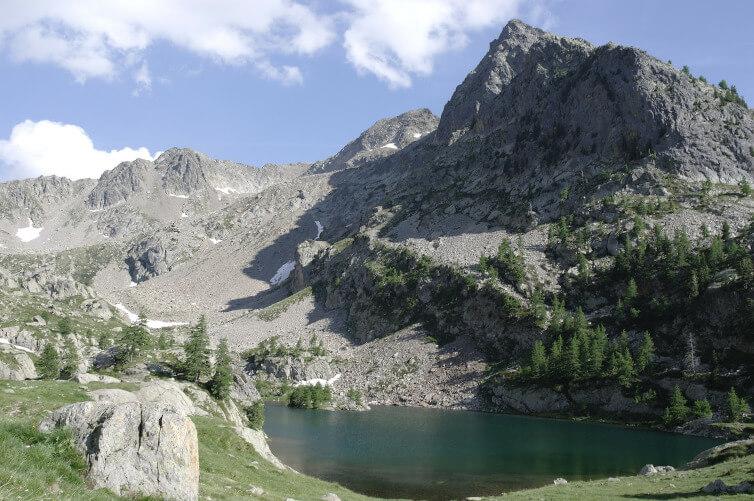 Immagine del Mercantour e del Lago Detrecolpas